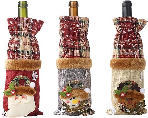 Housse pour bouteille de vin Motif No/ël al/éatoire