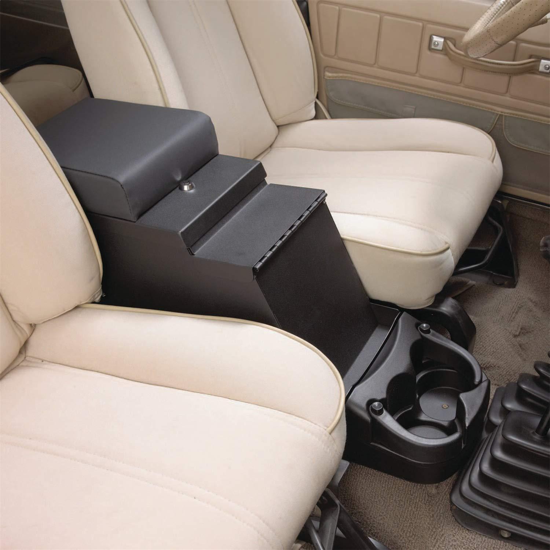 Smittybilt 31815 Consola de piso estéreo de seguridad en color negro vaquero para Jeep Wranglers 1976-1995