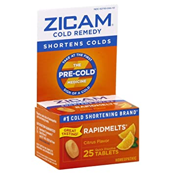 Amazon Com Zicam Cold Remedy Rapidmelts Citrus Flavor Quick