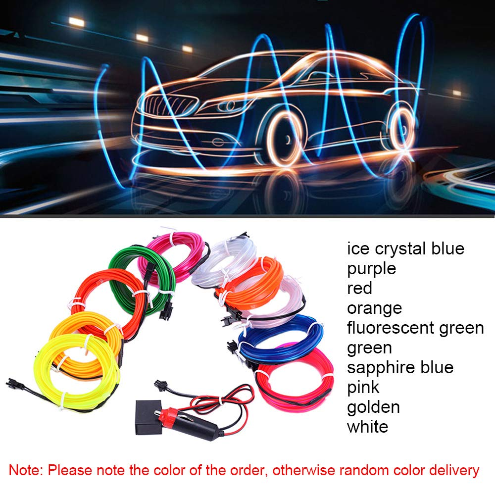 4M LED RGB Charge Light Car Interior Center Console Foot Decorative Universal
