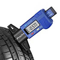 Tire Depth Gauge, Preciva Digital Tire Depth Measurements LCD Display Tyre Tread Depth Gauge Caliper (Blue)