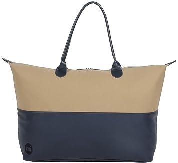 Mi-Pac Weekender Bag Sac de voyage, 55 cm, 35 litres, Beige(Canva Sand Nav)