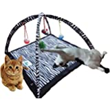 CProduct Activity Center Play Mat with Hanging Mice and Balls Cat Toy
