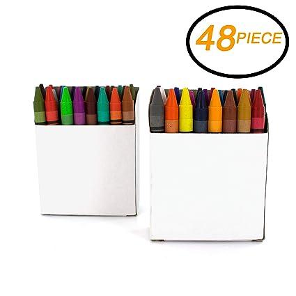Amazon.com: Emraw Jumbo Triangle Round Coloring Crayons Multi-Color ...