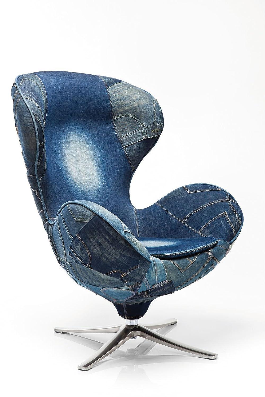 Kare 77623 Drehsessel Lounge Jeans
