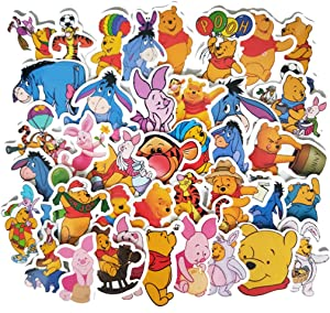 My Friends Tigger & Pooh Stickers for Water Bottles 40 Pcs Cute,Waterproof,Aesthetic,Trendy Stickers for Teens,Girls Perfect for Waterbottle,Laptop,Phone,Travel Extra Durable Vinyl