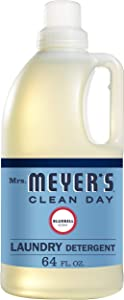 Mrs. Meyer's Clean Day Liquid Laundry Detergent, Cruelty Free and Biodegradable Formula, Bluebell Scent, 64 oz