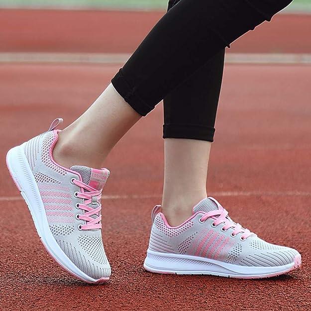 Amazon.com | Womens Lightweight Air Cushion Sport Running Shoes Walking Casual Sneaker Black, | Shoes
