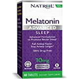 Natrol Advanced Sleep Melatonin Tablets, Maximum Strength 10 mg 60 ea (Pack of 2