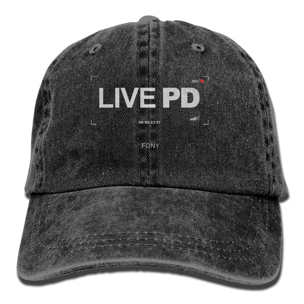 Dkvmkrvla Rec-Live-PD Adjustable Baseball Caps Denim Hats Cowboy Sport Outdoor