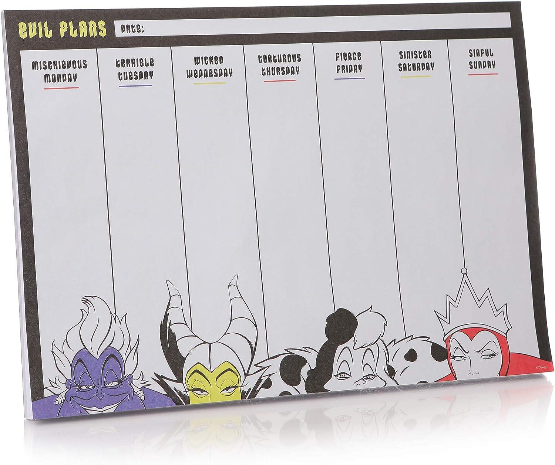 Half Moon Bay Disney Villains Weekly Planner A4 Desk Pad