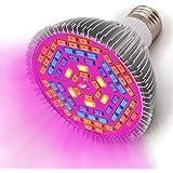 InteTech Principale si sviluppa chiaro, Full Spectrum 78 LED Indoor Garden pianta Grow Light Bulb - 15W E27 (30 LED blu e 42 LED rosso e 6 LED giallo) lampada idroponica per piante da fiore crescita vegetale a effetto serra