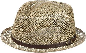 Pork Pie f/ür Fr/ühjahr//Sommer Hut aus 100/% Stroh Sonnenhut Made in Italy Lipodo Diamond Crown Strohhut Damen und Herren
