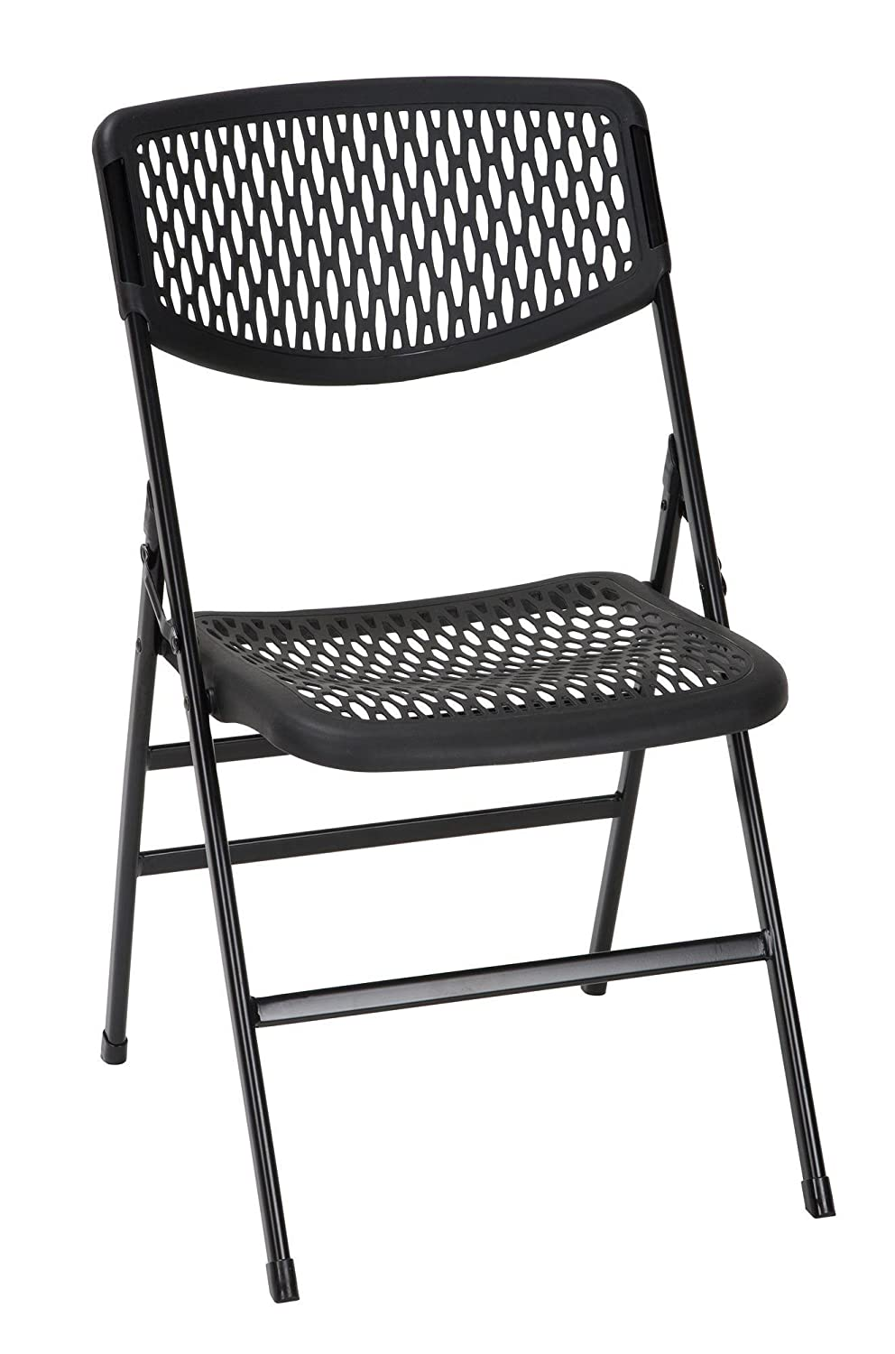 Amazon.com: Cosco Products 60863BLK4E Mesh Folding Chair, Black ...