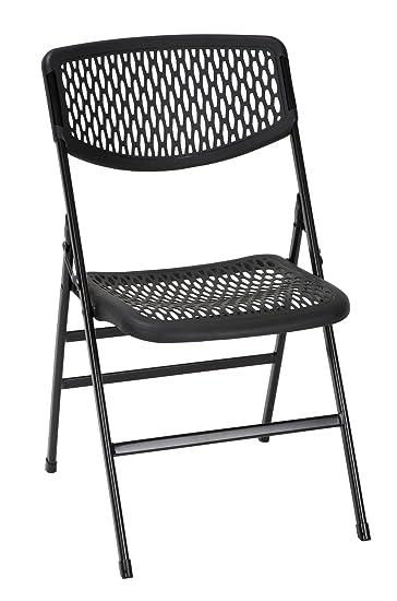 Cosco Products 60863BLK4E Mesh Folding Chair, Black