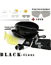 98e6ee9343 Tryway Gafas de Seguridad tácticas Profesionales balística polarizada M 3.0  photochrom UV400 Gafas Protectoras Montura de
