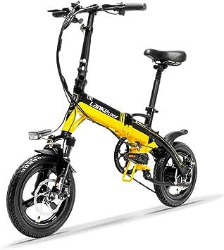 LANKELEISI A6 Mini Bicicleta Plegable portátil, Bicicleta ...
