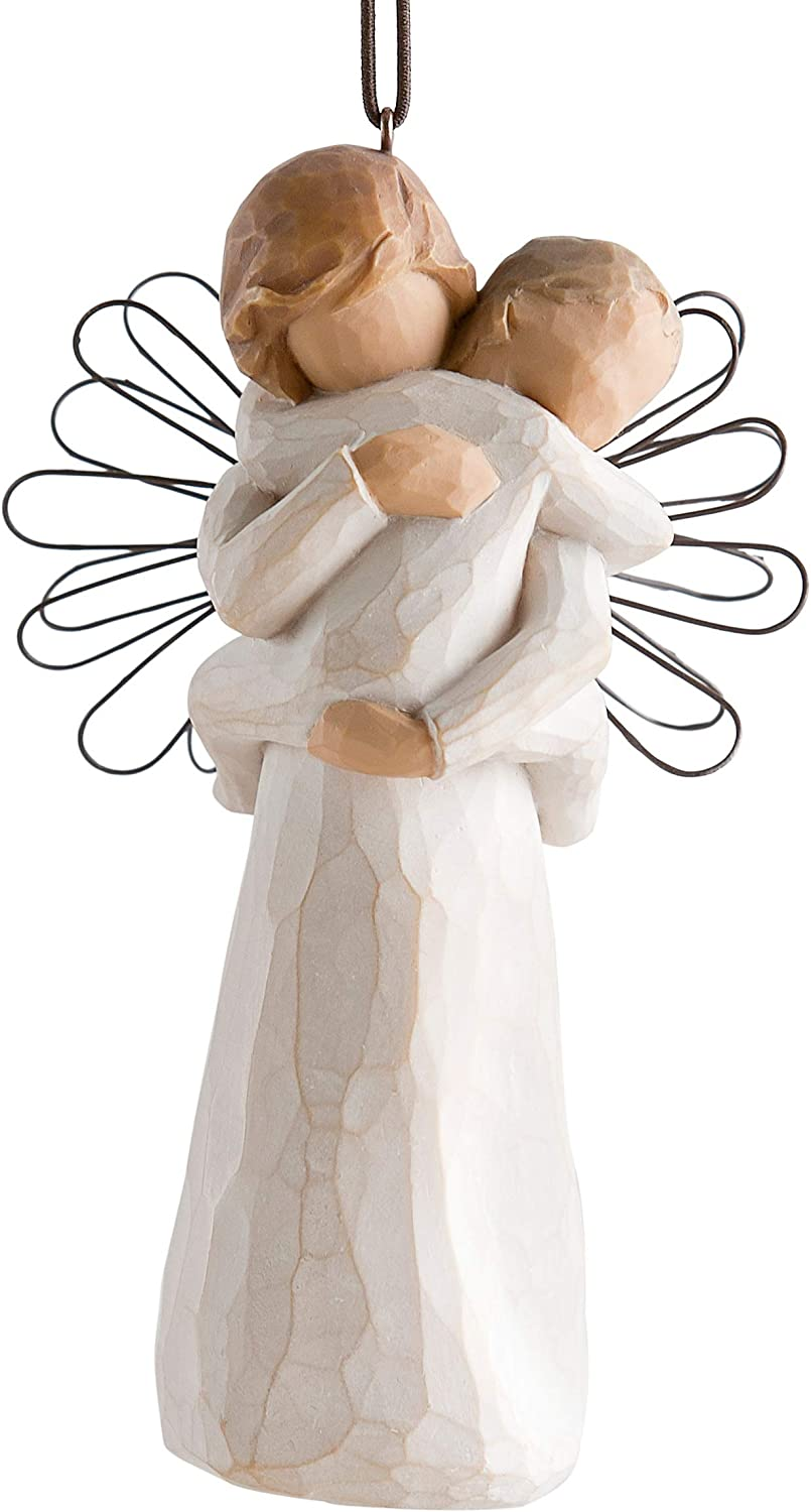 sculpted hand-painted figure Willow Tree Angels Embrace