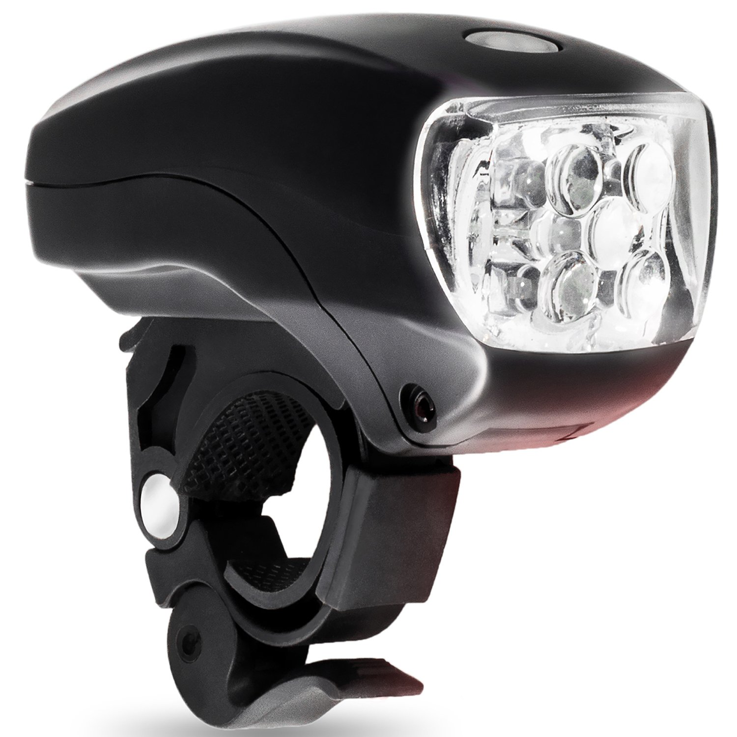 LED BIKE LIGHT SET. Bicycle headlight & taillight combo. Ultrabright 5 LED kit.. Use on bike or scooter. FREE high visibility reflectors. ~ In BG Lights gift box as pictured by BoG Products (Image #6)