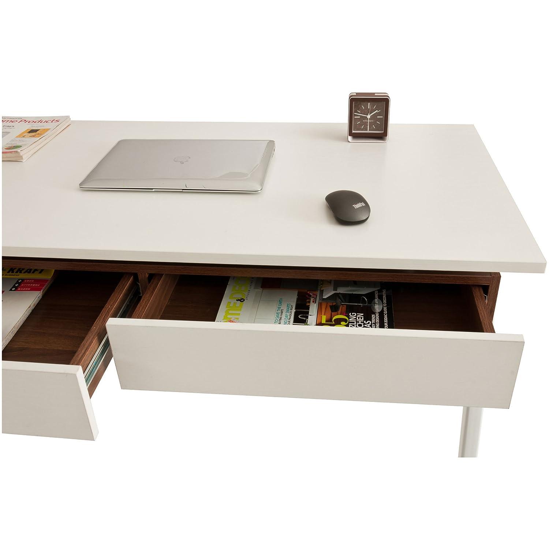 Retro Stil Home Office Laptop Computer weiß Holzmaserung ...