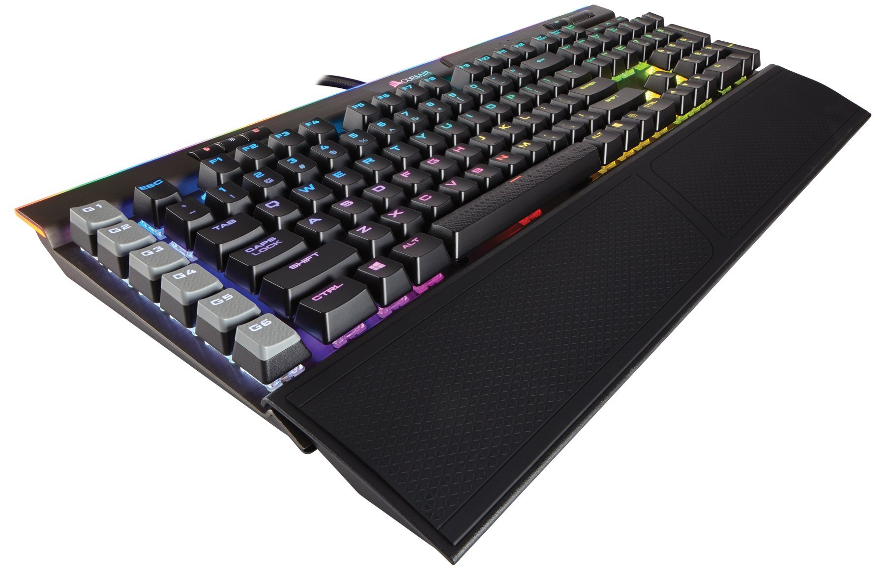 CORSAIR K95 RGB PLATINUM Mechanical Gaming Keyboard - USB Passthrough & Media Controls - Fastest Cherry MX Speed - RGB LED Backlit - Aluminum Finish
