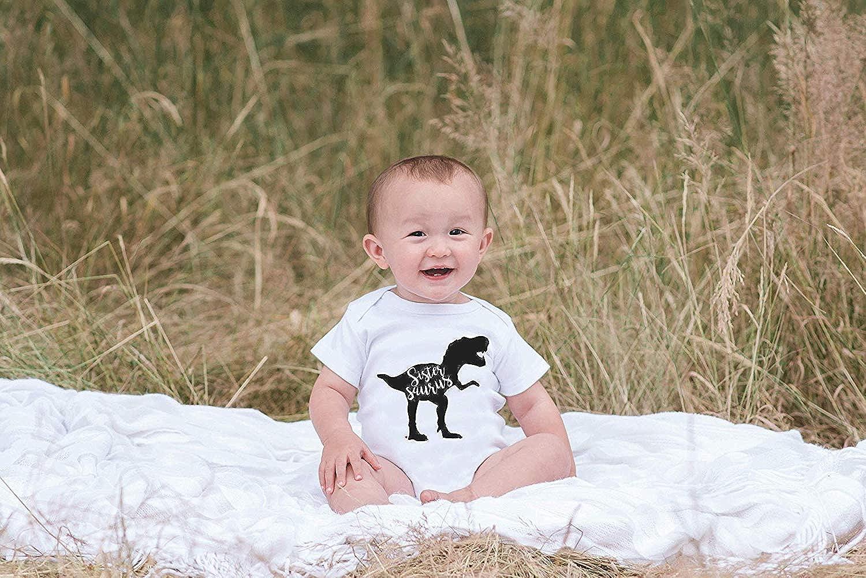 Eletina purple Month Shirt 0 3 Raglan Baby S Dinosaur Sistersaurus Onepiece