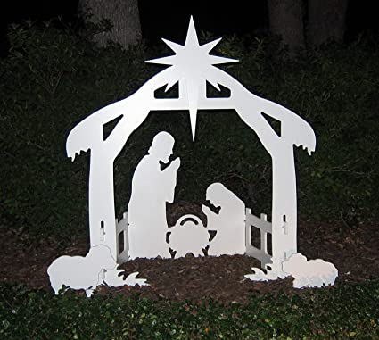 teak isle christmas outdoor nativity set yard nativity scene - Teak Isle Christmas Decorations