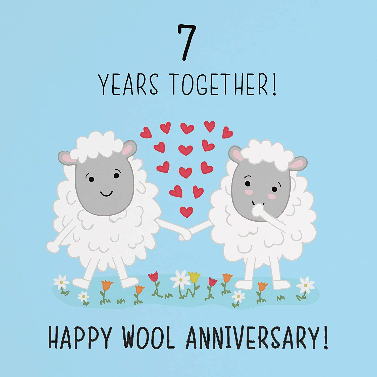 8th Wedding Anniversary Card - Wool Anniversary - Iconic Collection