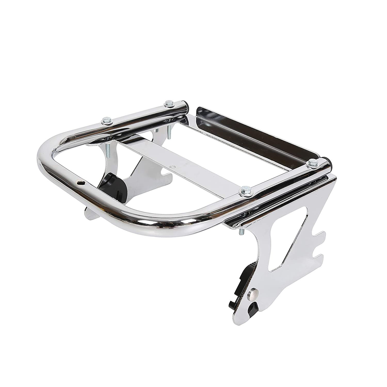 Motors Black Detachable Two Up Tour Pack Mounting Luggage Rack For Harley Touring 97-08 Motorcycle Accessories