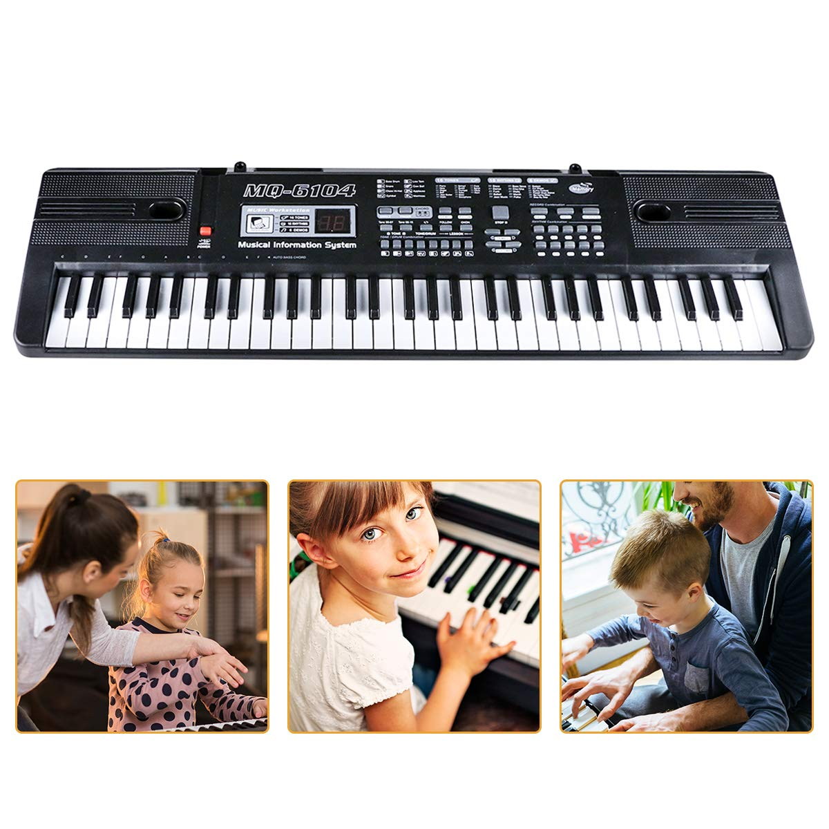 Digital Music Piano Keyboard 61 Key - Portable Electronic Musical Instrument with Microphone Kids Piano Musical Teaching Keyboard Toy For Birthday Christmas Festival Gift by Tencoz (Image #6)