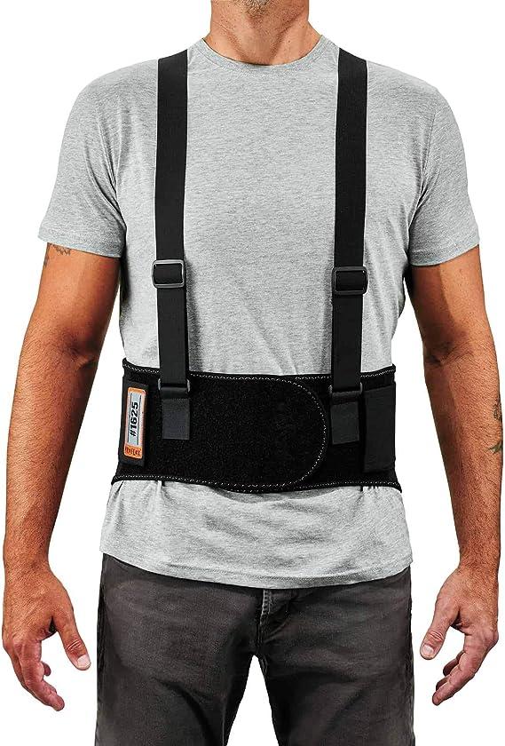 Removeable Straps Ergodyne ProFlex 1625 Back Support Brace Adjustable Stays and Rubber Webbing for Snug Fit