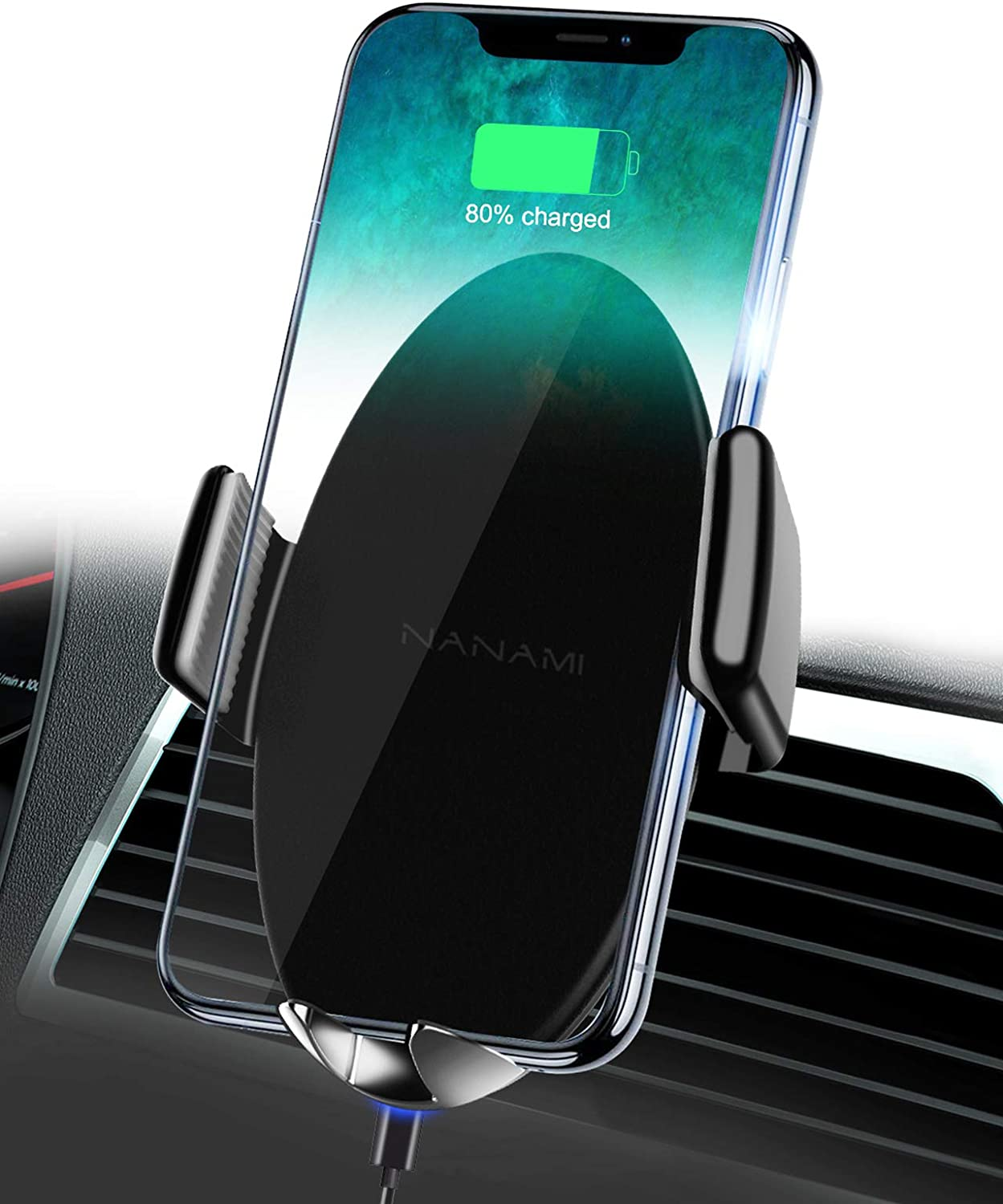 NANAMI Wireless Car Charger Mount with Fast Charging Technology