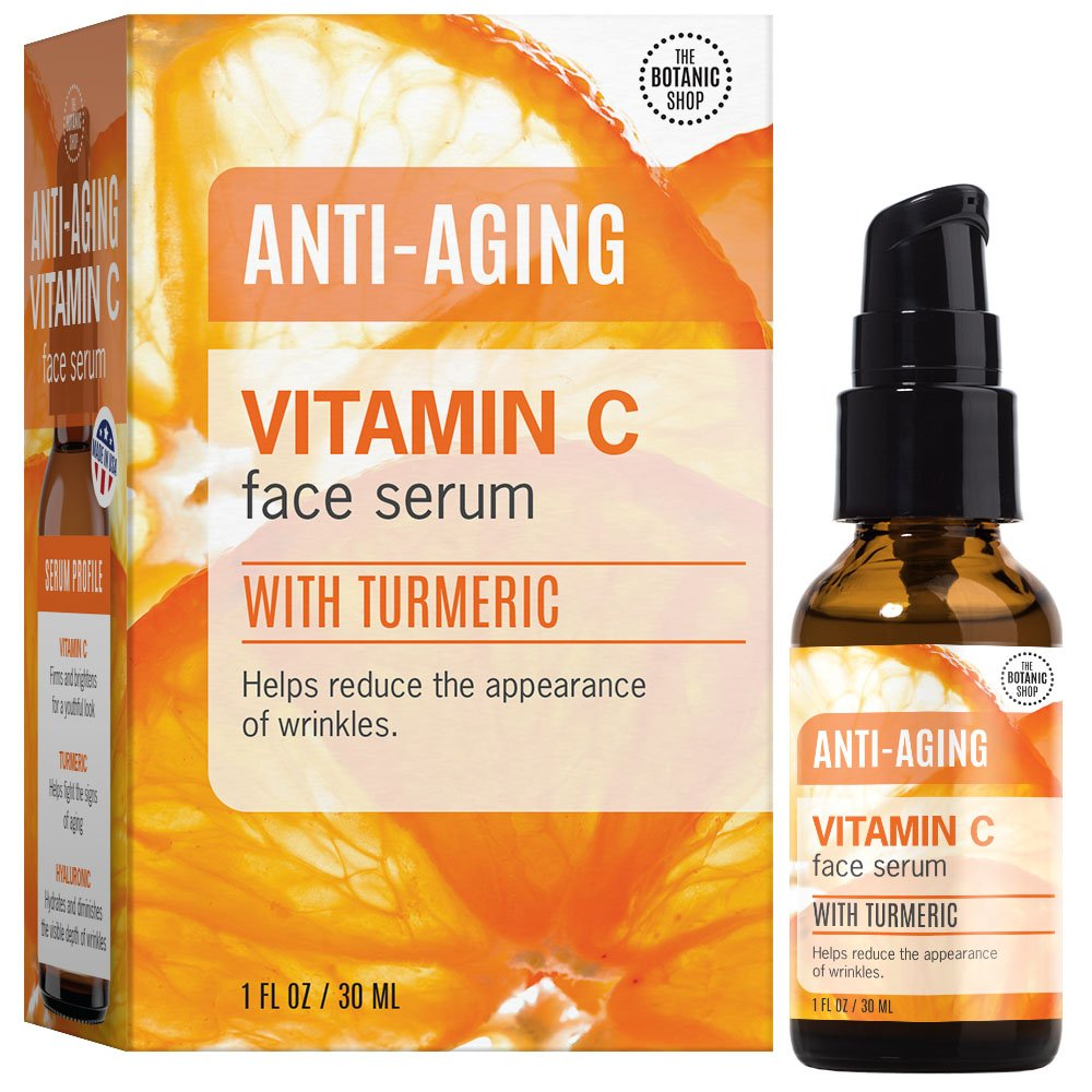 Amazon Com Botanic Shop Vitamin C Anti Aging Face Serum With
