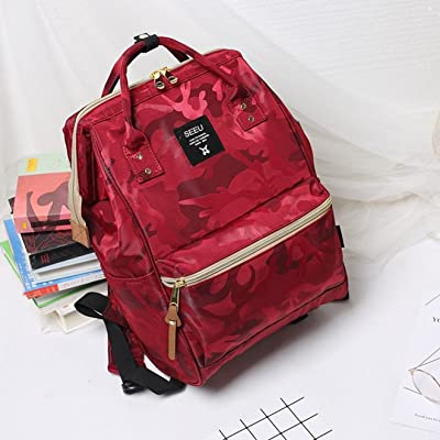 Large Wide Open School Backpack, Lightweight Travel Bag With Laptop Padding for Women&Men Nylon Waterproof