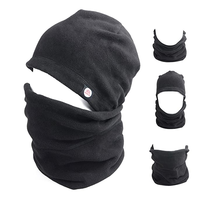 b50c86702d5 Azarxis Balaclava Ski Mask Full Face Mask Hood Neck Warmer Balaclava Hat  Fleece Windproof Motorcycle Mask