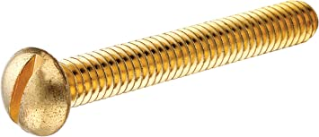 8-32 X 5//8 Slotted Flat Machine Screw Brass Package Qty 100