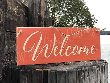 ImouSde - Cartel de bienvenida para parte delantera de ...
