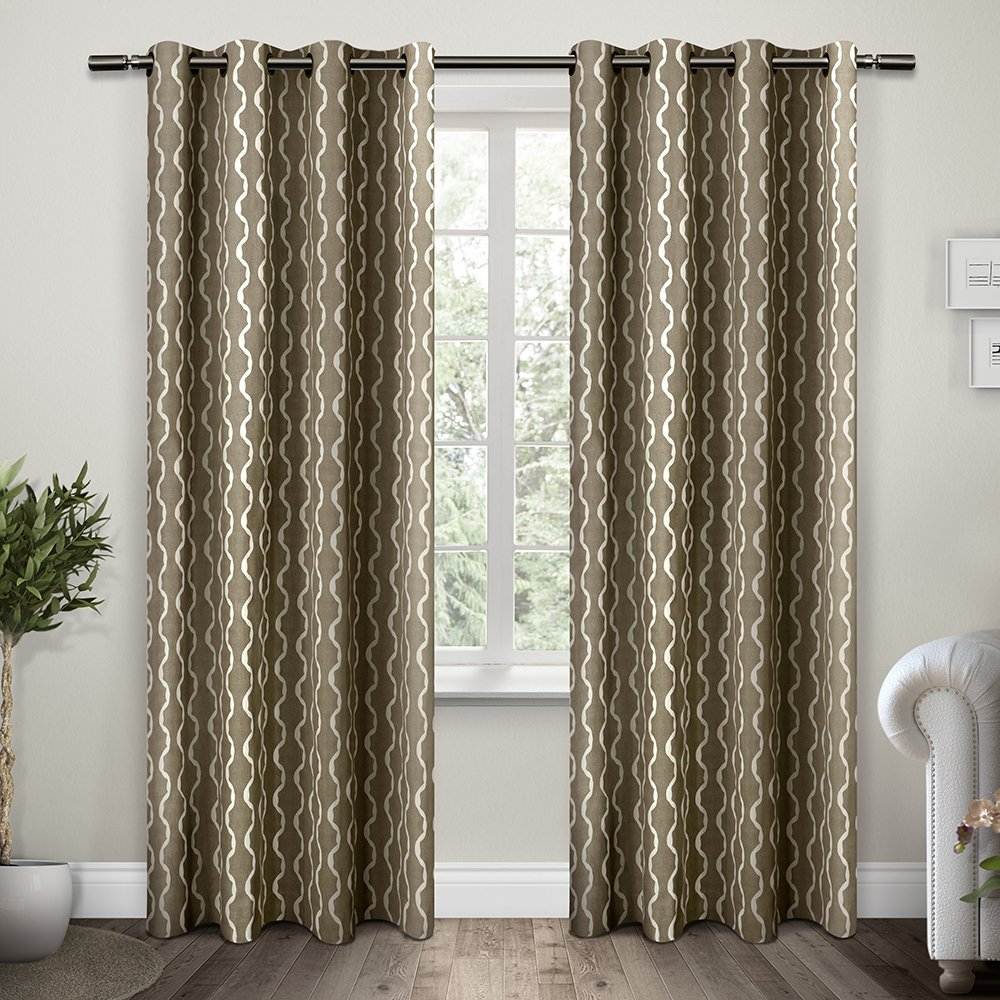 Amazon.com: Exclusive Home Curtains Trellis Grommet Top Window ...