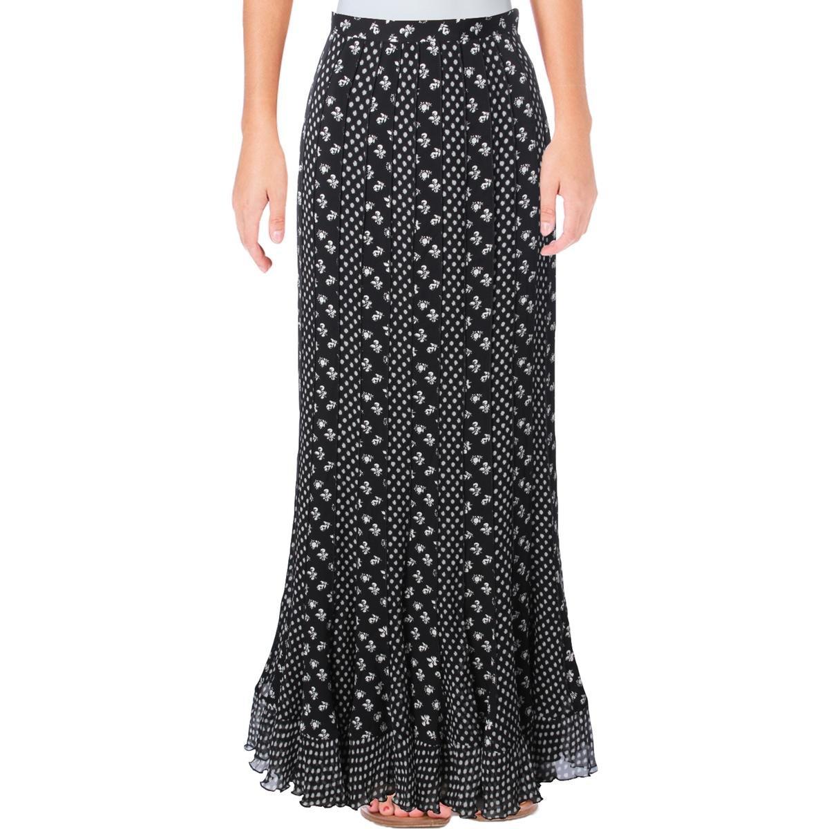 Diane Von Furstenberg Womens Addyson Silk Floral Print Maxi Skirt B/W 4 by Diane von Furstenberg