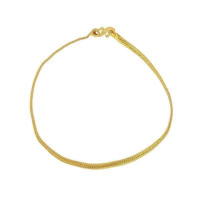 Dzinetrendz Brass Gold Plated Snake Chain Design Simple Sober