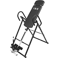 ISE Table d'Inversion Musculation Planche d'inversion Pliable/Gravity Trainer avec Le Système Perfect-Balance - Taille jusqu'à 190 cm,Inversion Max de 180° SY-ES1012