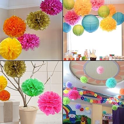 Skylofts DIY Pom Flower Party Props Supplies Birthday Decorations Items Multicolor Random