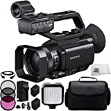 Sony PXW-X70 Professional XDCAM Compact Camcorder + 3PC Multi-Coated Filter Kit (UV+CPL+FLD) + 2 Replacement Batteries + HDMI Cable + 36 PIN LED Video Light + Carrying Case & Microfiber Cleaning Cloth
