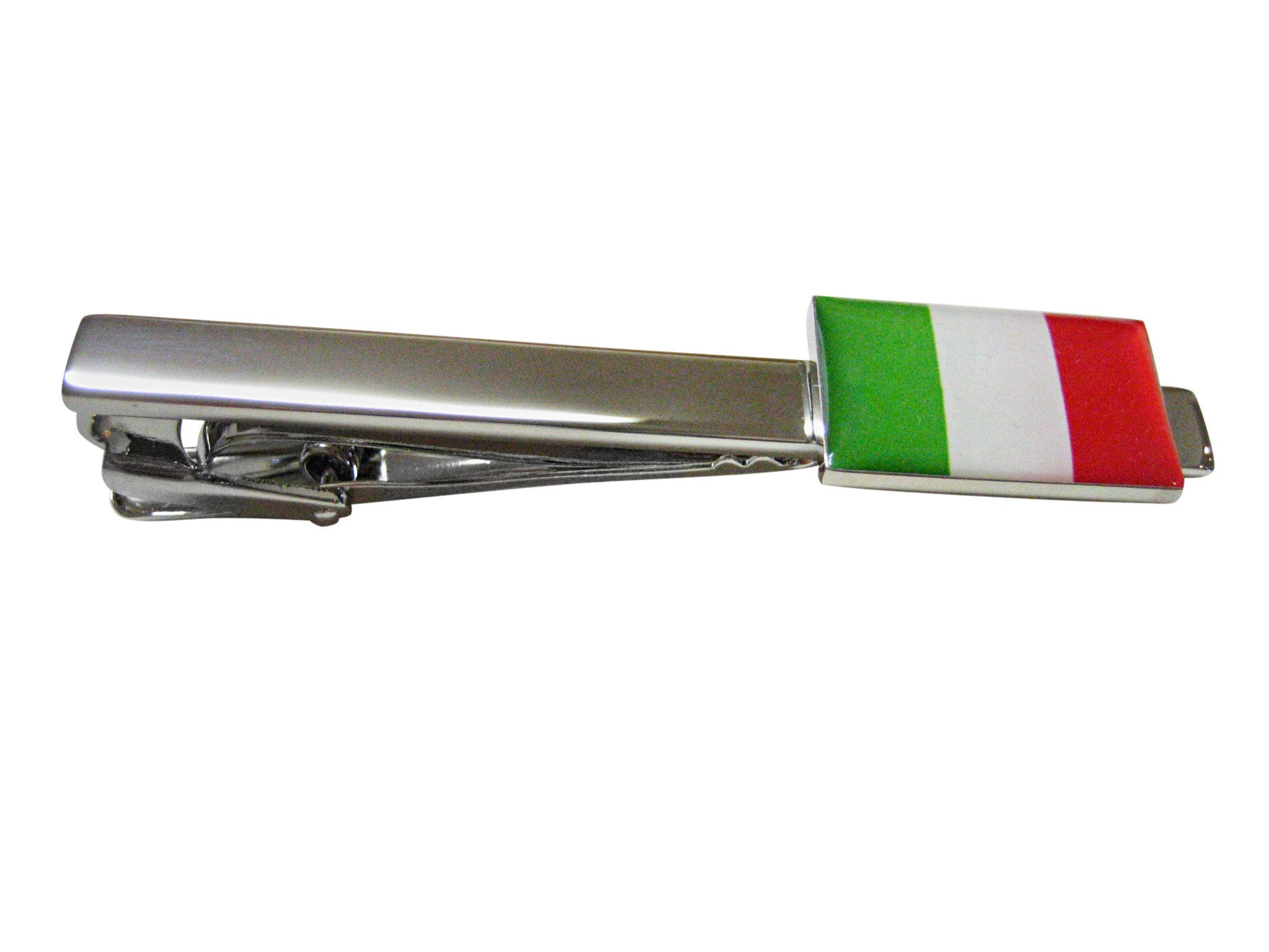Italy Flag Square Tie Clip