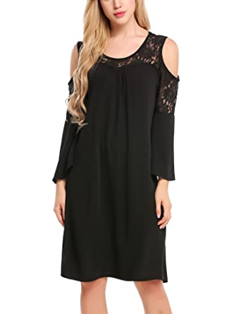 Parabler Damen Spitzenkleid Ballkleid Partykleid Chiffonkleid A-Linie Kleid  mit Gürtel  Amazon.de  Bekleidung 2b34821d5c