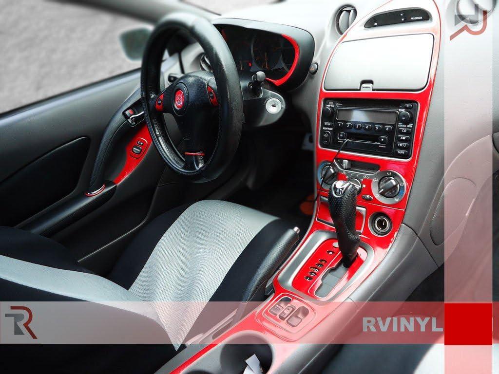 Carbon Fiber 4D Rdash Dash Kit Decal Trim for Toyota Celica 2000-2005 Blue