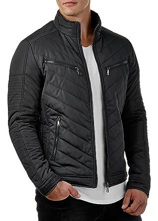 Jacke schwarz gesteppt