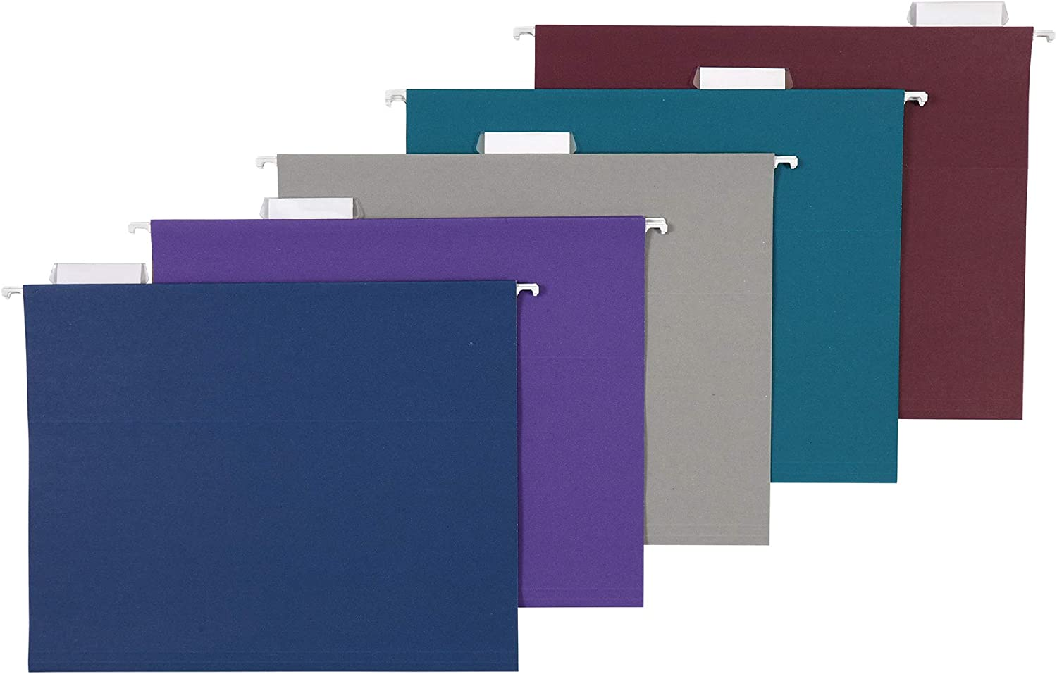 AmazonBasics Hanging Folders, Letter Size, Jewel-Tone Colors (Assorted), 25-Pack