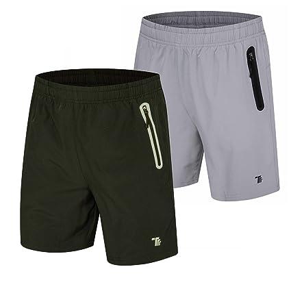 99417e8b8bea Amazon.com   TBMPOY Men s 7   Running Shorts Reflective Quick Dry ...