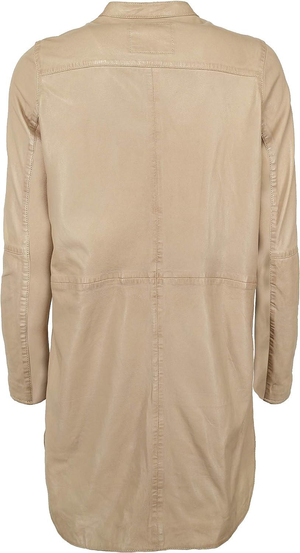 Maze 420-20-40 - Cappotto da donna in pelle Polvere